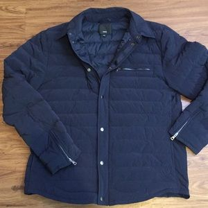 Vince Navy Blue Puffer Jacket Large